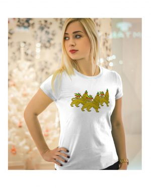 Good Vibes Rastafarian 3 Lions White Womens T-shirt