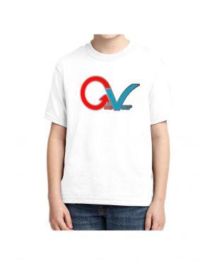 Good Vibes Multi Color GV Logo White Kids T-shirt