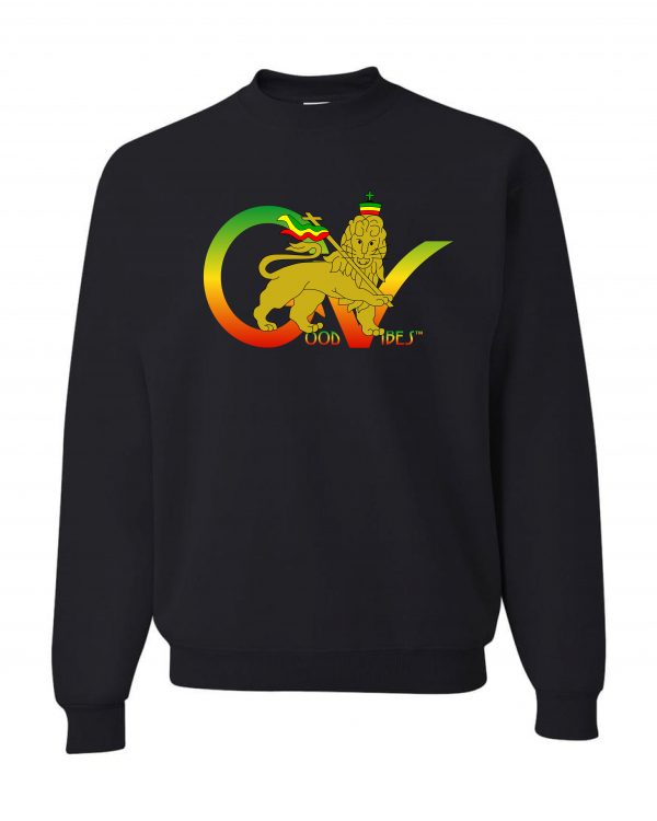 Good Vibes Flag Rasta Black Sweatshirt