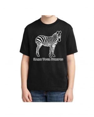 Good Vibes Earn Your Stripes Kids Black T-shirt