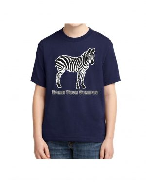 Good Vibes Earn Your Stripes Kids Navy T-shirt