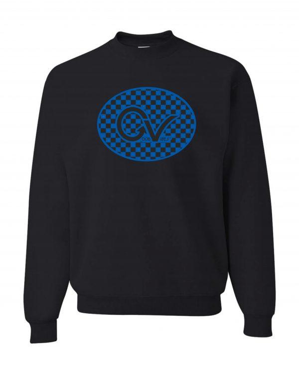 Good Vibes Blue Black Checker Sweatshirt