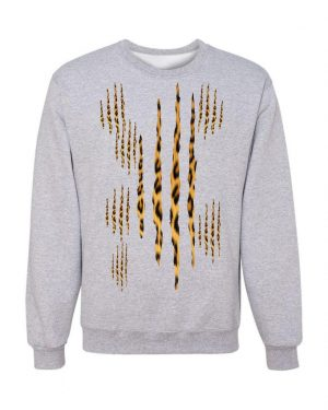 Good Vibes Cheetah Claw Gray Sweatshirt