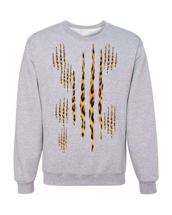 Good Vibes Cheetah Claw Gray Sweatshirt