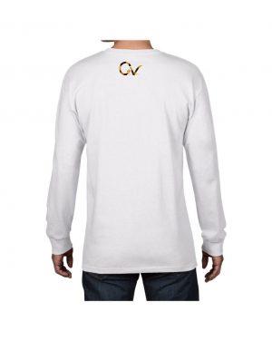 Good Vibes Cheetah Claw White Long SleeveT-shirt