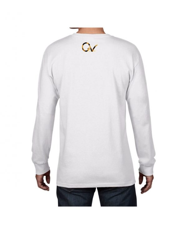 Good Vibes Cheetah Claw White Long Sleeve T-shirt