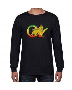 Good Vibes Flag Rasta Black Long SleeveT-shirt