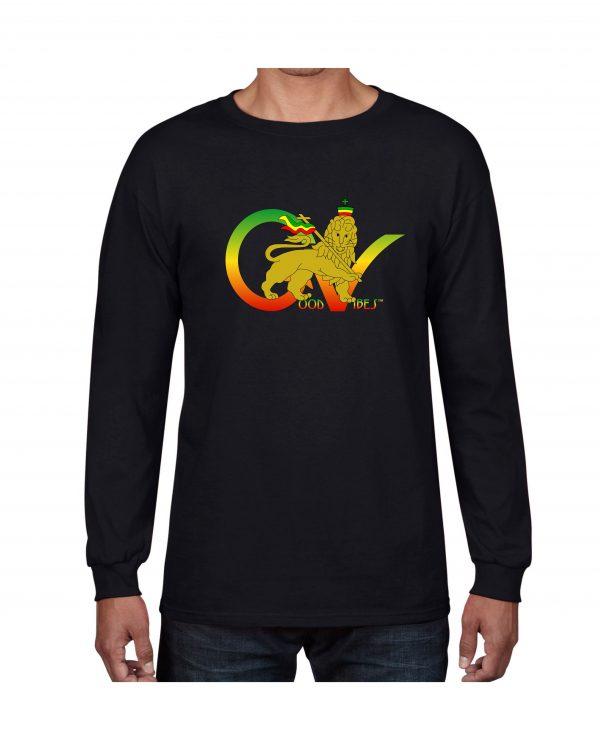 e693e5bb5c Good Vibes™ Flag Rasta Long Sleeve T-shirt | GGS Global Graphic ...