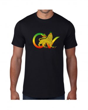Good Vibes Flag Rasta Black T-shirt