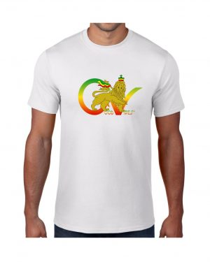 Good Vibes Flag Rasta White T-shirt