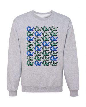 Good Vibes Multi Colored GV Layout Gray Sweatshirt