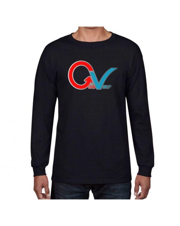 Good Vibes GV Multi Color Black Long Sleeve T-shirt