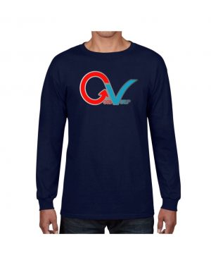 Good Vibes GV Multi Color Navy Long Sleeve T-shirt