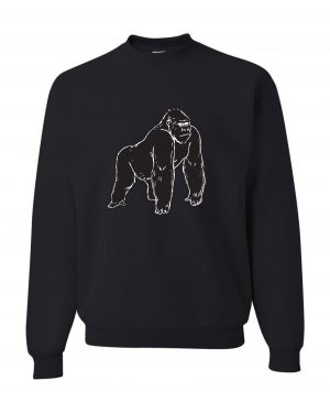 Good Vibes Black Gorilla Black Sweatshirt