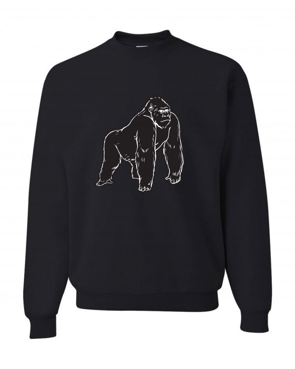 Gorilla Black Frt Black Sweatshirt-min