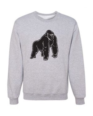 Good Vibes Black Gorilla Gray Sweatshirt