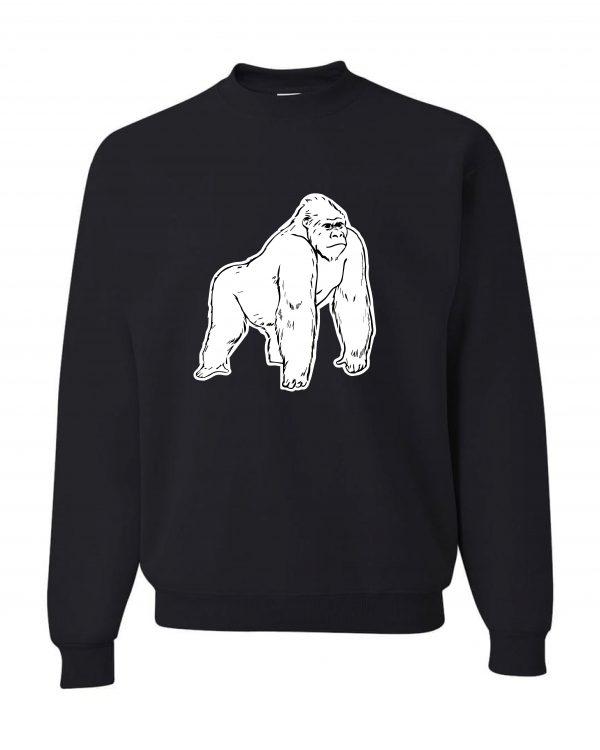 Good Vibes White Gorilla Black Sweatshirt