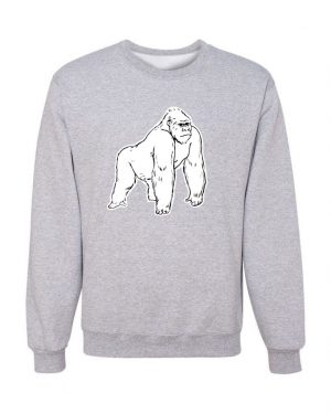 Good Vibes White Gorilla Gray Sweatshirt