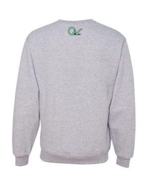 Good Vibes Green GV Logo Gray Sweatshirt