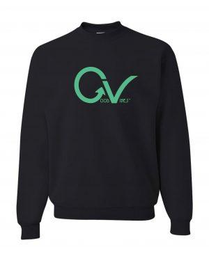 Good Vibes Green GV Logo Black Sweatshirt