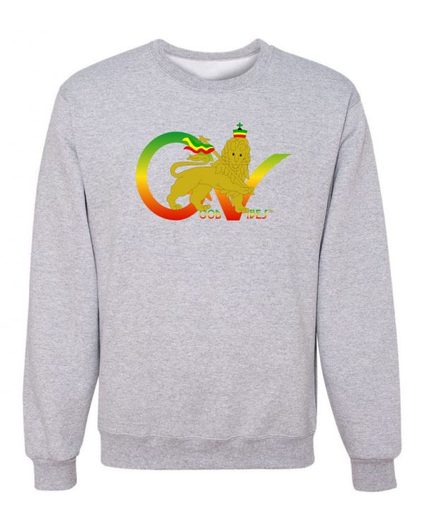 Good Vibes Flag Rasta Gray Sweatshirt