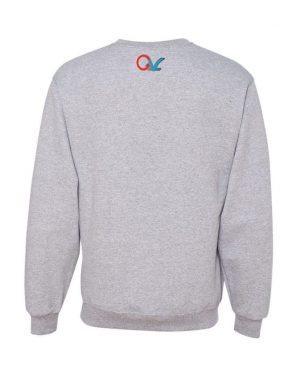 Good Vibes Multi Color Checker GV Logo Gray Sweatshirt
