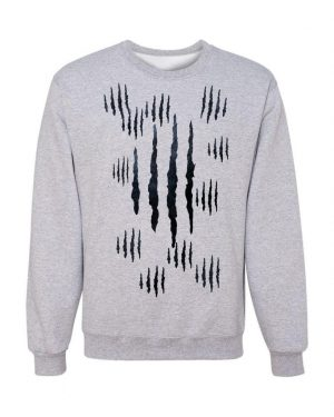 Good Vibes Panther Claw Gray Sweatshirt