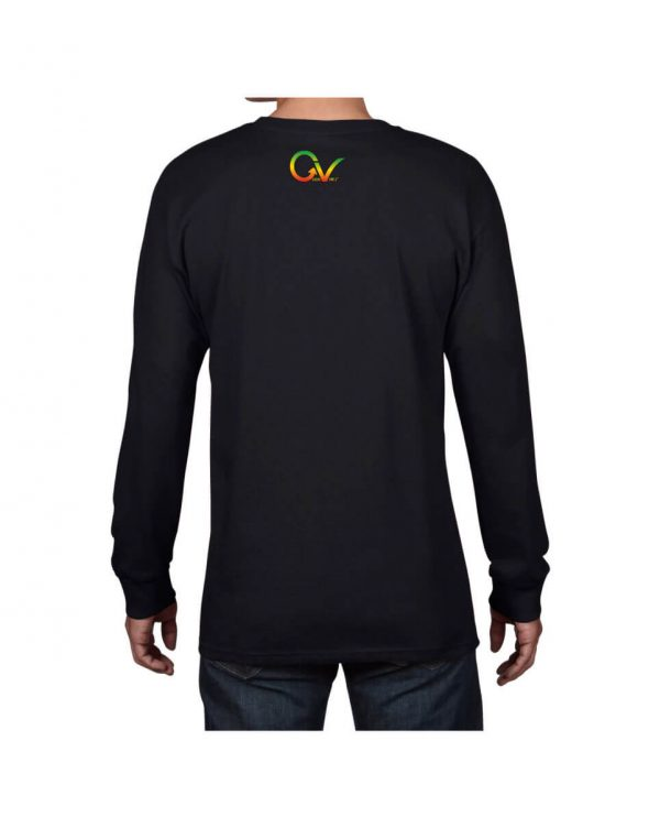 Good Vibes Flag Rasta Black Long Sleeve T-shirt