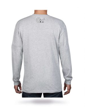 Good Vibes Rasta White Lion Logo Gray Long Sleeve T-shirt