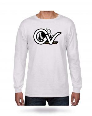 Good Vibes Rasta White Lion Logo White Long Sleeve T-shirt