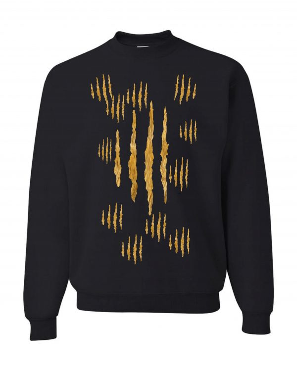 Good Vibes Lion Claw Black Sweatshirt