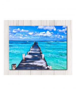 Dock by Ocean Canvas Available in 4 Sizes