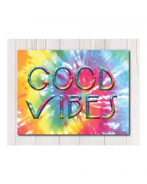 Good Vibes Tie Dye Wall Canvas Available in 4 Sizes