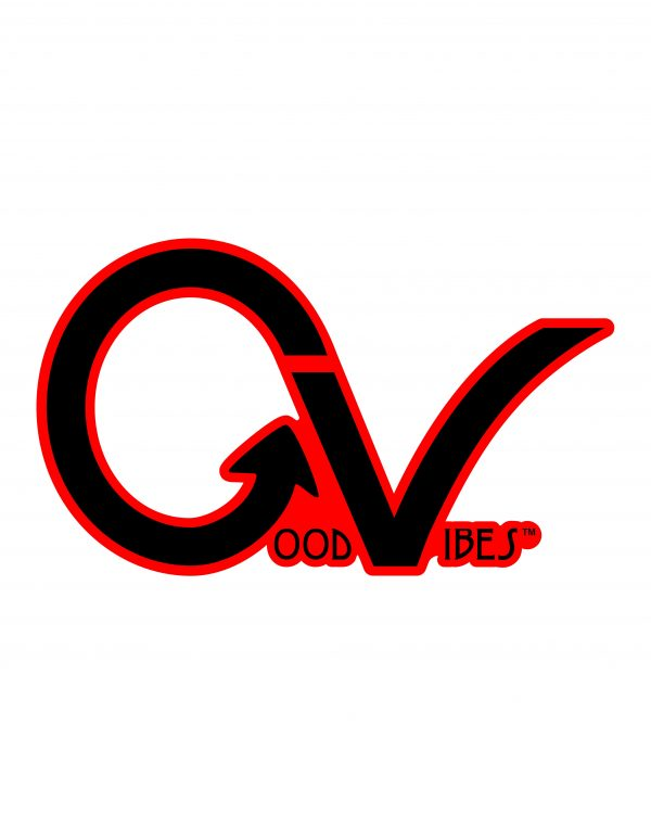 Good Vibes Black Red Border GV Sticker