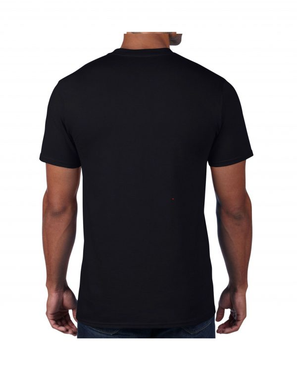 Men's Black Plain T shirts with no decoration. 5.4 oz 100% Combed Ring-Spun Cotton. (Available in 6 Colors) Made to order from ggsgraphics.com today!