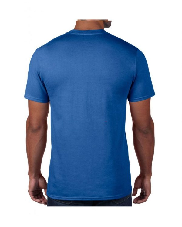 Men's Blue Plain T shirts with no decoration. 5.4 oz 100% Combed Ring-Spun Cotton. (Available in 6 Colors) Made to order from ggsgraphics.com today!