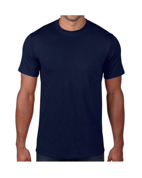 Men's Navy Plain T shirts with no decoration. 5.4 oz 100% Combed Ring-Spun Cotton. (Available in 6 Colors) Made to order from ggsgraphics.com today!