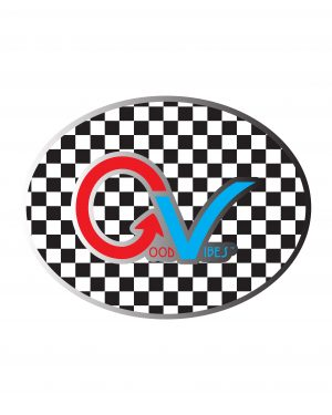 "Good Vibes Checker Multi Color Sticker for Indoor or Outdoor Use 4"" x 3"""