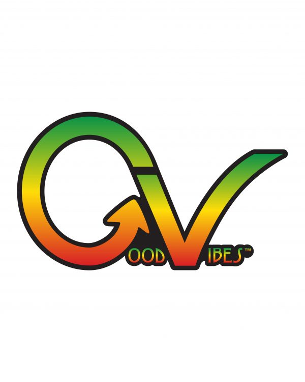 Good Vibes Rastafarian GV Sticker for Indoor or Outdoor Use 3.45