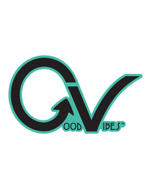 Good Vibes Teal Black GV Sticker for Indoor or Outdoor Use 3.45