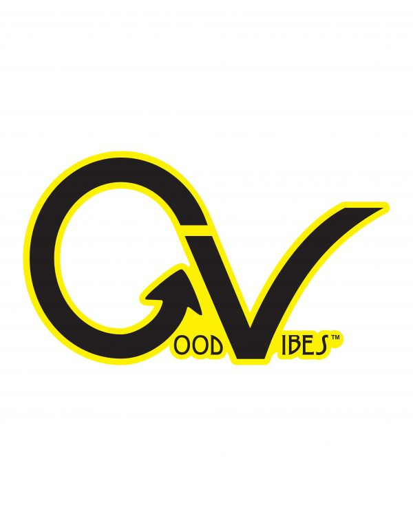 Good Vibes Yellow Black Border GV Sticker