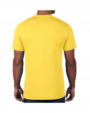Men's Yellow Plain T shirts with no decoration. 5.4 oz 100% Combed Ring-Spun Cotton. (Available in 6 Colors) Made to order from ggsgraphics.com today!