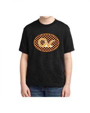 Kids Orange Good Vibes Logo T-shirt 5.6 oz., 50/50 Heavyweight Blend Black T-Shirt
