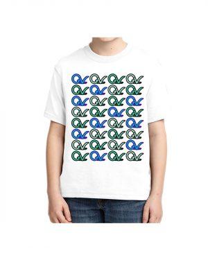 Kids Good Vibes Layout T-shirt 5.6 oz., 50/50 Heavyweight Blend White T-Shirt
