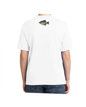 Kids Black Crappie Fish T-shirt 5.6 oz., 50/50 Heavyweight Blend White T-Shirt
