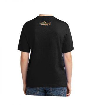 Kids Brook Trout Fish T-shirt 5.6 oz., 50/50 Heavyweight Blend Black T-Shirt