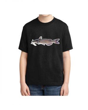 Kids Catfish T-shirt 5.6 oz., 50/50 Heavyweight Blend Black T-Shirt