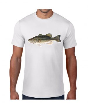 Large Mouth Bass T-shirt 5.6 oz., 50/50 Heavyweight Blend
