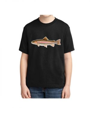 Kids Rainbow Trout 5.6 oz., 50/50 Heavyweight Blend Black T-shirt