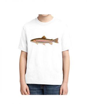 Kids Rainbow Trout 5.6 oz., 50/50 Heavyweight Blend White T-shirt